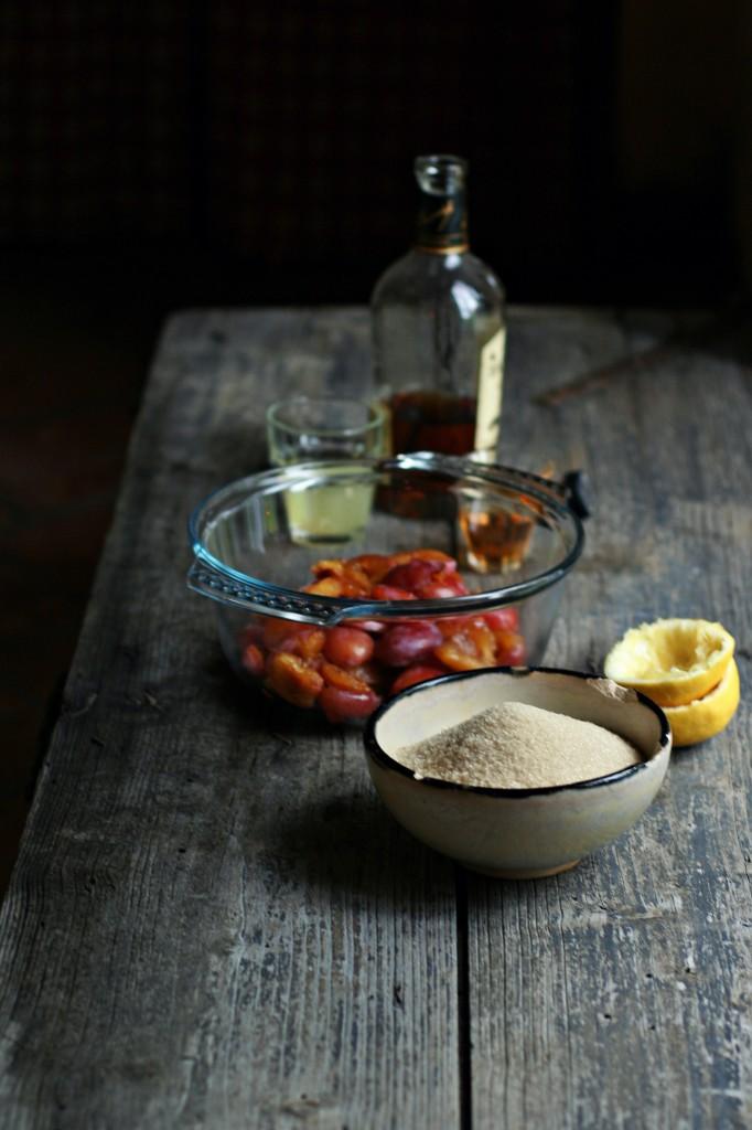 Confettura di prugne Mirabelle al Rum e timo