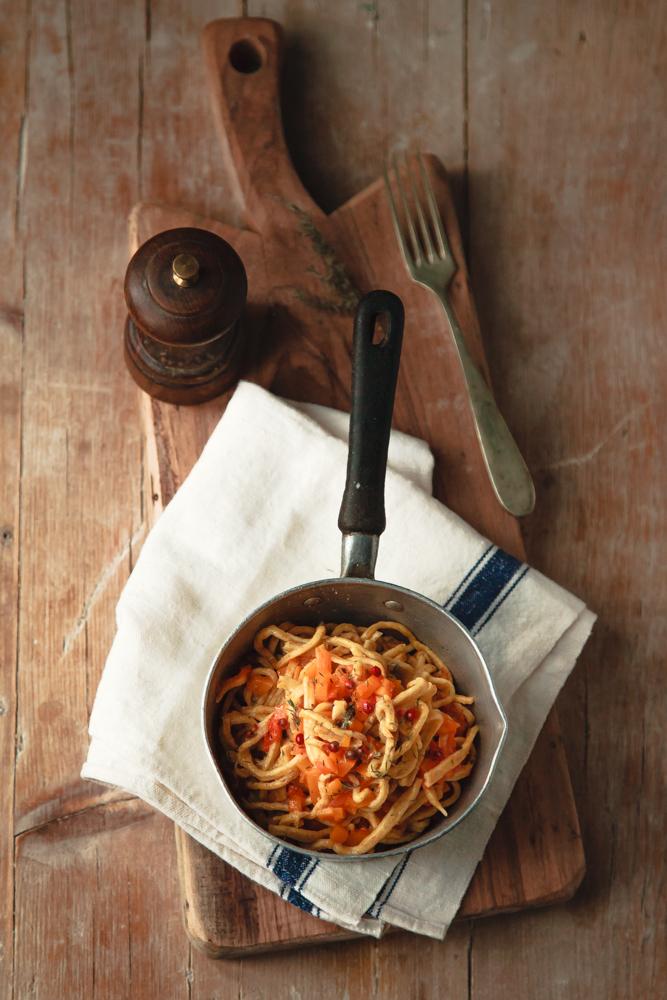 spaghetti alla chitarra zucca e pomodoro giallo-5