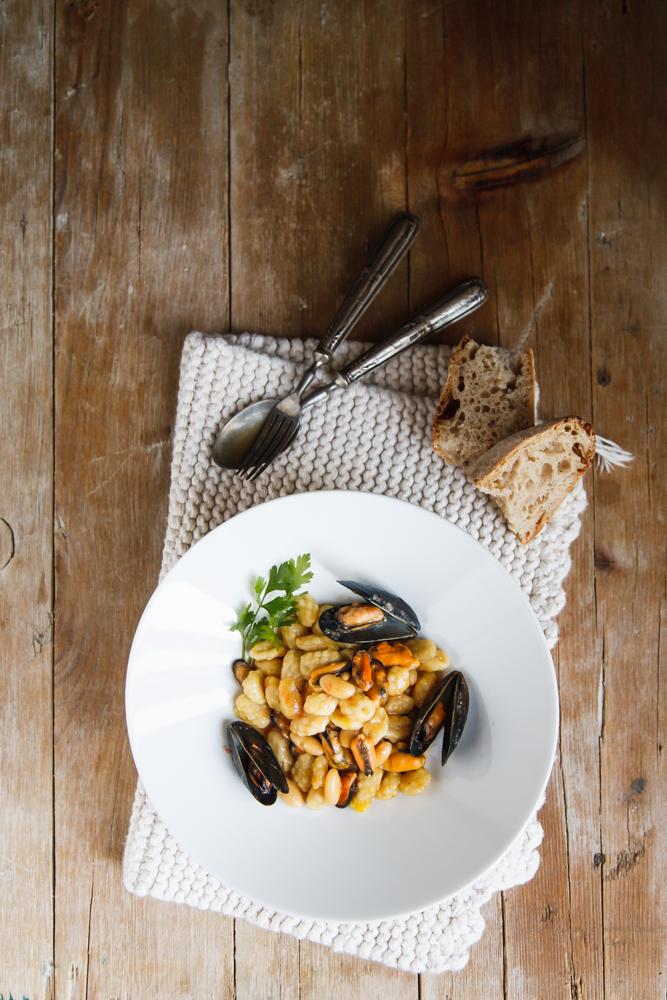 Chiusoni galluresi con cozze, zafferano e pecorino-3