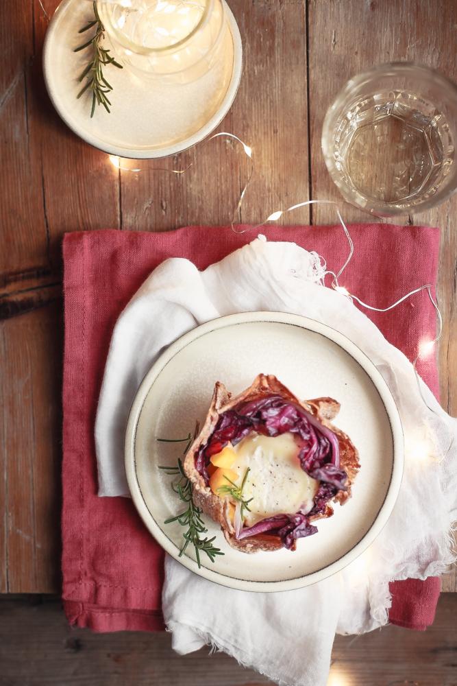 Guscio di grano saraceno con radicchio scottato, zucca al rosmarino e chèvre-2
