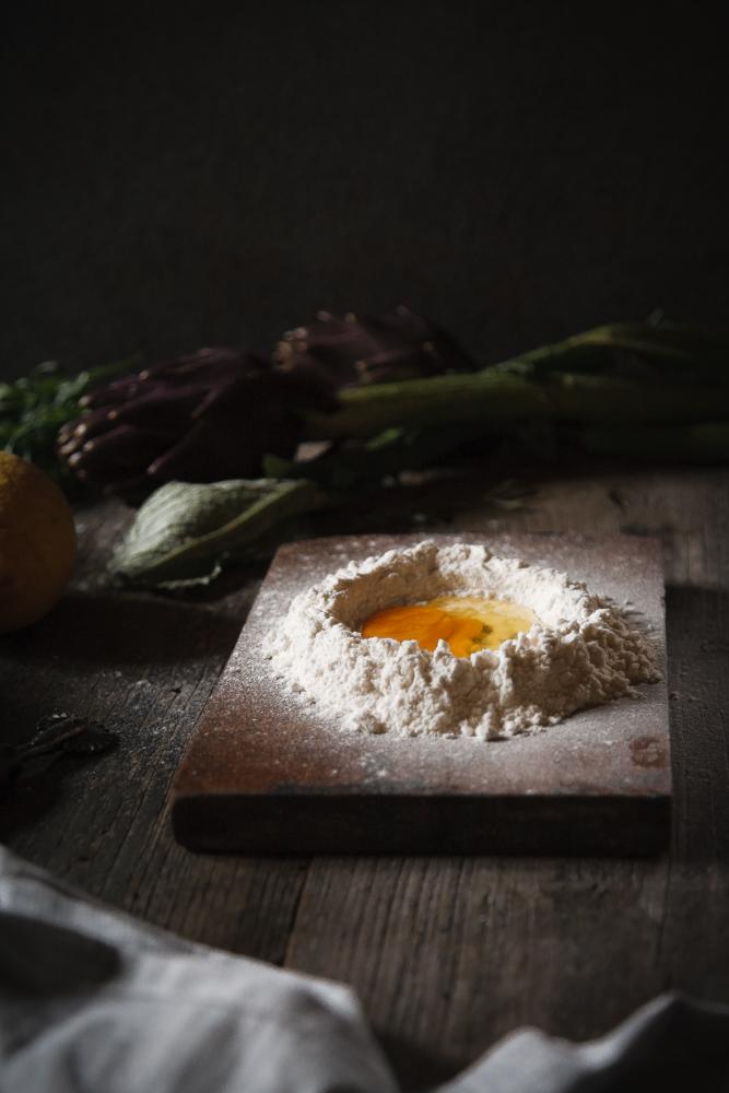 Pasta fresca Ravioli con carciofi e mozzarella di bufala affumicata-3