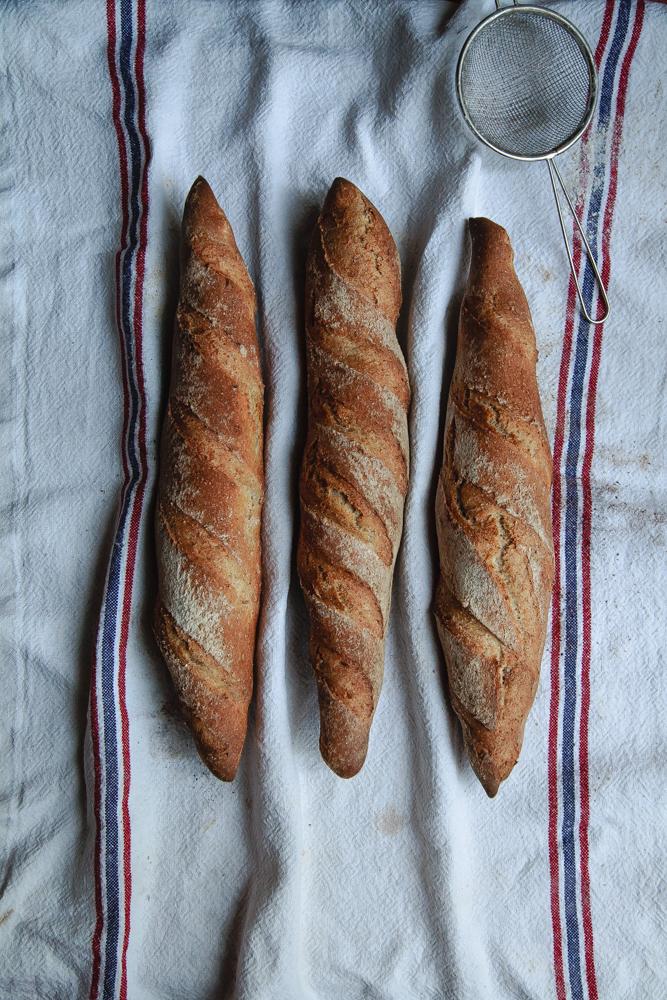 Baguette integrali con farina di farro